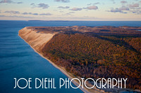 Sleeping Bear Dunes with North Manitou Island in the background