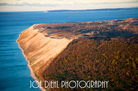 Sleeping Bear Dunes with North and South Manitou Islands in the Background
